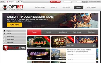 Screenshot 3 OptiBet Casino