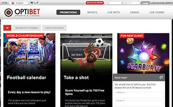 Screenshot 1 OptiBet Casino