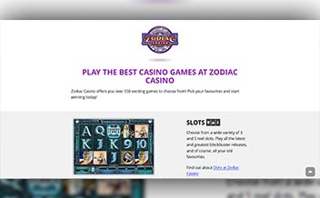 Screenshot 1 Zodiac Casino